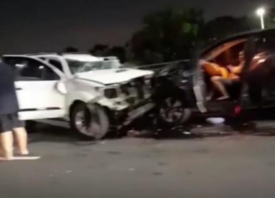 Tiga Mobil Tabrakan Beruntun di Tol Wiyoto Wiyono, Kondisi Ringsek Parah