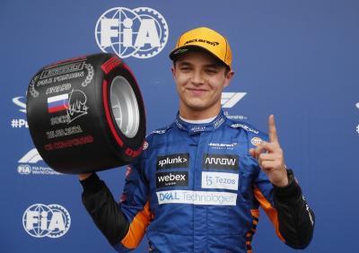 Raih Pole Position Perdana di F1 GP Rusia 2021, Lando Norris: Ini Luar Biasa!