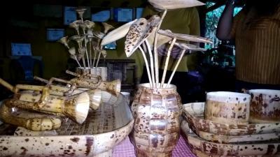 Kreasi Unik Bambu Batik Khas Sangihe, Terkenal di Belanda hingga China