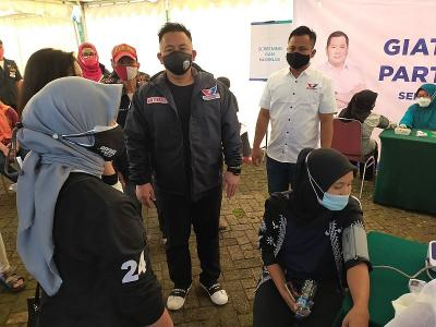 Partai Perindo Gelar Vaksinasi Covid-19 Massal di Lido Bogor
