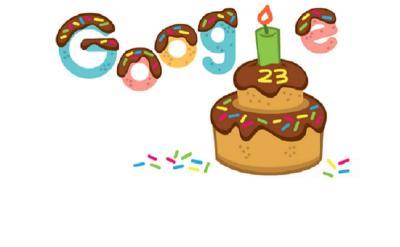 Google Rayakan Ulang Tahun ke-23, Doodle Berikan Kue Spesial