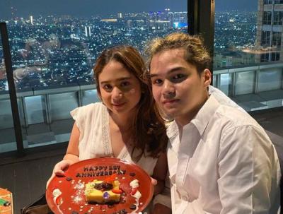 Dul Jaelani dan Tissa Biani Rayakan Satu Tahun Pacaran