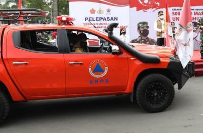Mobil Masker, Cara BNPB Perkuat Prokes di Kawasan Pendukung PON Papua