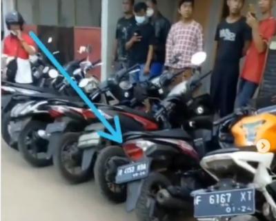 Viral! Puluhan Sepeda Motor Hasil Curanmor Berjejer di Markas Bandit