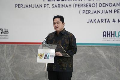 Cek Renovasi Gedung Sarinah, Erick Thohir: Pembukaan Maret Tahun Depan