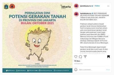 BPBD Peringati Dini Potensi Gerakan Tanah di Jakarta