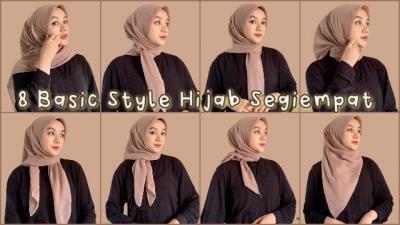 8 Tutorial Hijab Segi Empat Simpel Cantik untuk Sehari-hari, Wajib Dicoba