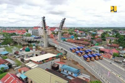 Presiden Jokowi Bakal Resmikan Jembatan Alalak Batola, Penghubung Kalsel dan Kalteng