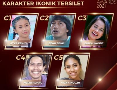 Berikut Nominasi Karakter Ikonik dan Pendatang Baru Silet Awards 2021