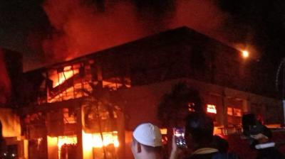 Kebakaran Gudang Elektronik di Mangga Dua Diduga karena Korsleting Listrik
