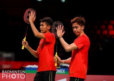 Hasil Semifinal Piala Thomas 2020: Fajar Alfian Rian Ardianto Bawa Indonesia Lolos ke Final!