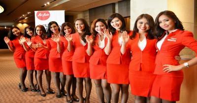 Asyik, Pramugari Cantik Air Asia Kembali Mengudara di Indonesia