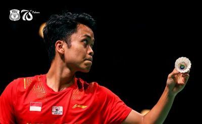 Hasil Final Piala Thomas 2020: Anthony Ginting Sukses Kalahkan Lu Guangzu, Indonesia Memimpin 1-0 atas China