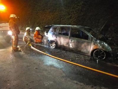Mobil Terbakar di Pintu Keluar Tol Cilandak, Diduga dari Selang Bensin