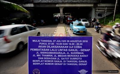 Polisi Akan Buka Kembali 25 Titik Ganjil Genap di Jakarta
