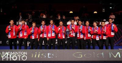 Jadi Juara, Indonesia Main dengan Durasi Terlama di Piala Thomas 2020, Sampai 1.351 Menit!