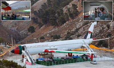 Wow! Pesawat Boeing 707 Bekas Israel Disulap Warga Palestina Jadi Restoran