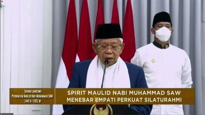 Wapres Ma'ruf Amin: Nabi Muhammad Tokoh Perubahan Luar Biasa