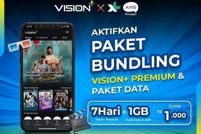 Hemat & Berkualitas! Nikmati Konten Favorit dengan Paket Bundling Vision+ x XL Axiata