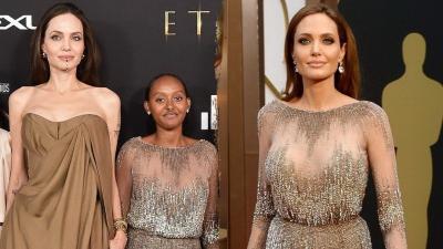 Penampilan Glamor Putri Angelina Jolie Pakai Gaun Oscar Sang Ibu di Premier Film Eternals