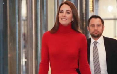 Pesona Kate Middleton Pakai Busana Monokrom saat Hadiri Kampanye Seputar Kecanduan