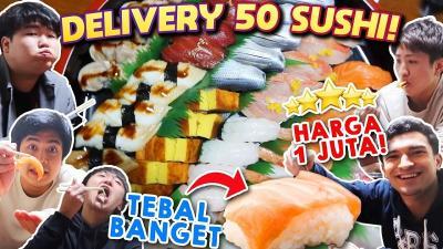 Intip Keseruan Jerome Polin Mukbang 50 Sushi Mewah!