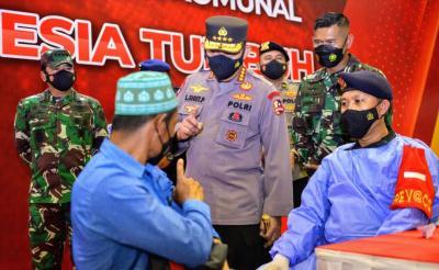 Kapolri Tegaskan Soliditas dan Sinergitas TNI-Polri Akan Wujudkan Herd Immunity