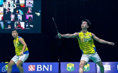 Hasil Denmark Open 2021: Marcus Kevin Lolos, Tommy Sugiarto Tunggu Anthony Ginting di 16 Besar