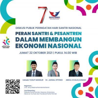 Peringati Hari Santri Nasional 2021, Partai Perindo Gelar Webinar dan Dihadiri Ustaz Yusuf Mansur, Cek di Sini!