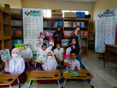 Dukung Minat Baca Anak, MNC Peduli Bantu Peralatan Perpustakaan di Pelosok Kabupaten Bogor