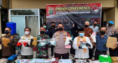 Polres Jakbar Musnahkan Ratusan Kilogram Ganja dan Sabu Hasil Tangkapan Dua Bulan