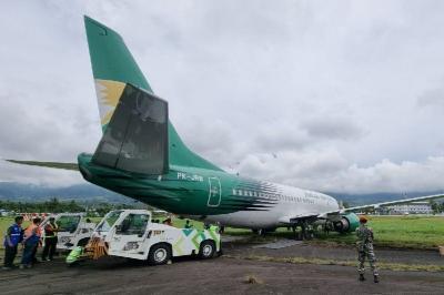 Pesawat Tergelincir di Bandara Sentani Papua, Begini Penampakannya