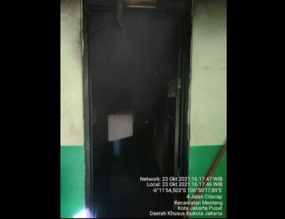 Diduga Korsleting Listrik, Ruang Komputer SMPN 280 Jakpus Kebakaran