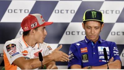 Jelang Pensiunnya Valentino Rossi, Marc Marquez Ogah Berbaikan dengan The Doctor