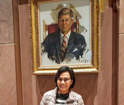 Foto di Harvard, Sri Mulyani Harap Mahasiswa Dapat Belajar Kebijakan Publik yang Terbaik