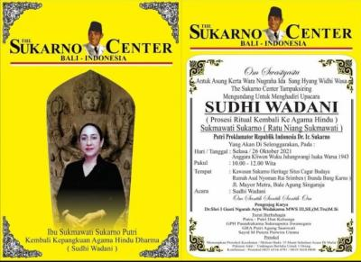 Biaya Ritual Pindah Agama Hindu Sukmawati Ditanggung Sukarno Center
