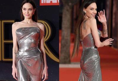 Pemutaran Perdana Eternals, Angelina Jolie Curi Perhatian dengan Gaun Silver Metalik