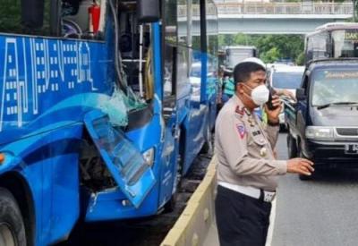 Kecelakaan TransJakarta yang Menewaskan 3 Orang Diduga karena Sopir Ngantuk