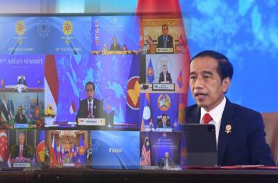 Presiden Jokowi Singgung Krisis Politik Myanmar dalam KTT ASEAN