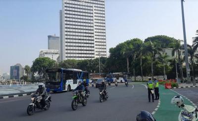 Jalan MH Thamrin Terpantau Lancar di Hari Kedua Penerapan Ganjil Genap