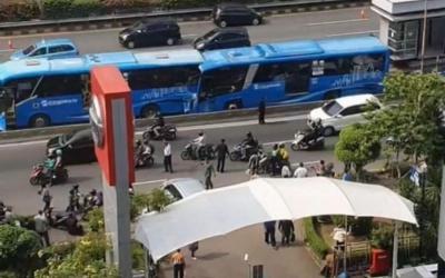 Terungkap! Bus TransJakarta Melaju 55,4 Km Jam saat Kecelakaan