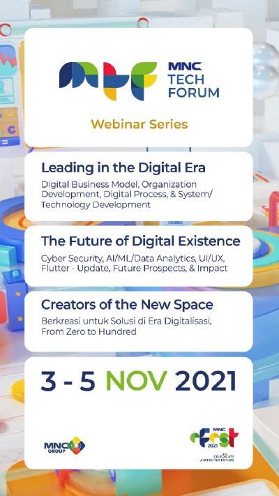 """Gratis! Cek 3 Tema Webinar """"MNC Tech Forum"""" 3-5 November 2021, Daftar di Sini!"""