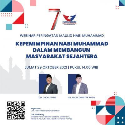 Gratis! Partai Perindo Gelar Webinar Kepemimpinan Nabi Muhammad 29 Oktober, Ini Link Registrasinya!