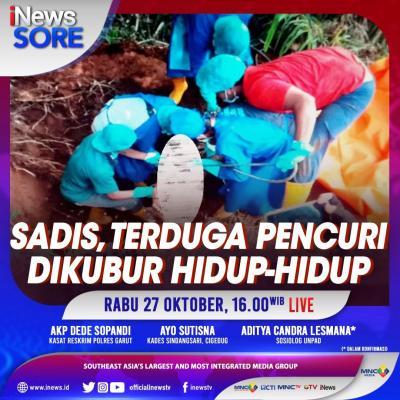 Sadis, Terduga Pencuri Dikubur Hidup-Hidup. Selengkapnya di iNews Sore