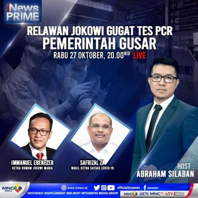 Relawan Jokowi Gugat PCR, Pemerintah Gusar. Selengkapnya di iNews Prime
