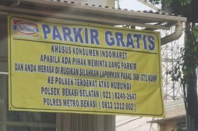 Viral! Indomaret Bekasi Lapor Polisi jika Pengunjung Dimintai Uang Parkir
