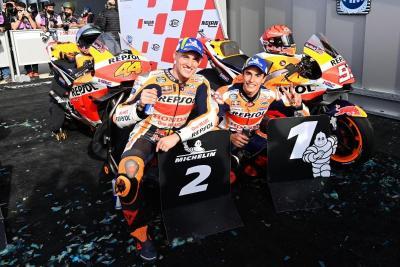 Marc Marquez dan Pol Espargaro Segel Podium di MotoGP Emilia Romagna 2021, Repsol Honda Amat Puas