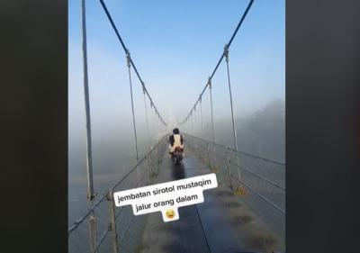 Viral Jembatan 'Shiratal Mustaqim' Bikin Merinding, Netizen: Jadi Kebayang Dosa
