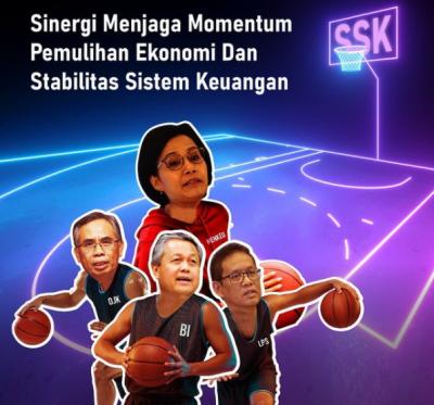 Aksi Sri Mulyani hingga Bos BI 'Main Basket' Jaga Stabilitas Sistem Keuangan