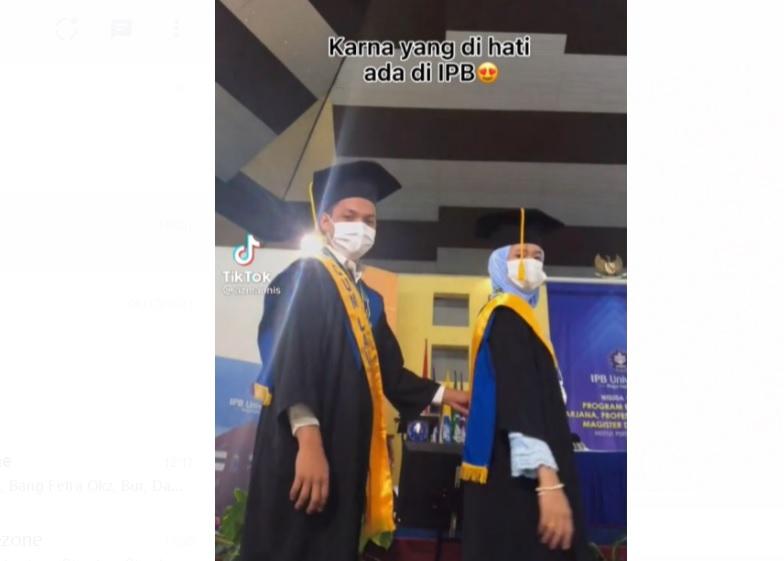 So Sweet! Pasangan Mahasiswa IPB Berpredikat Cumlaude Ini Menikah Usai Lulus